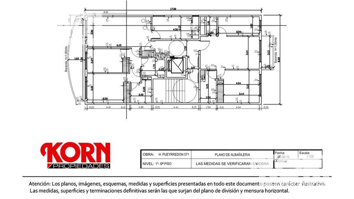 Foto Edificio en Caballito Av. H. Pueyrredón al 500 entre Aranguren y M. de Andes numero 22