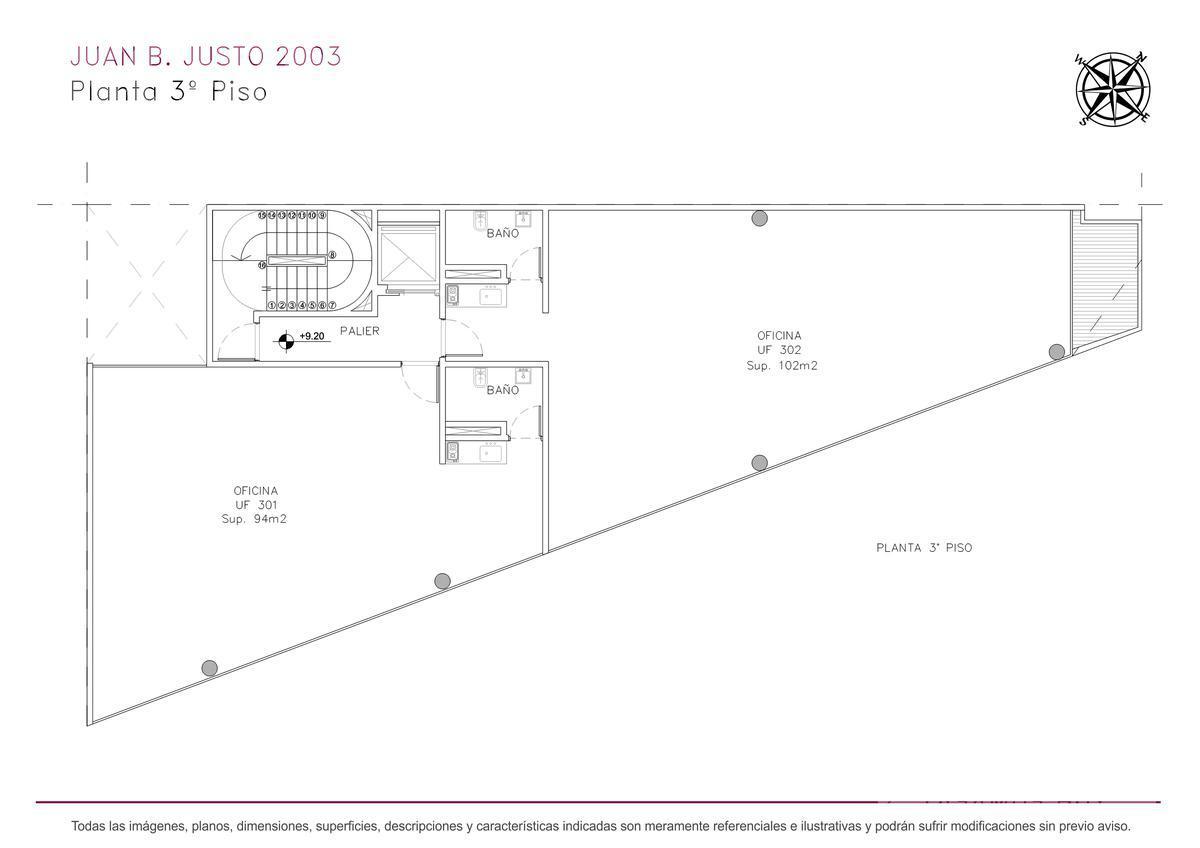Foto Edificio de oficinas en Villa Crespo Juan B. Justo y Castillo numero 11