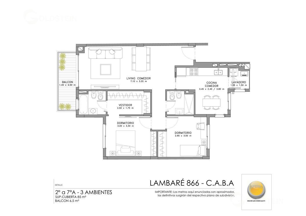 Foto Edificio en Almagro Lambaré 800 número 11