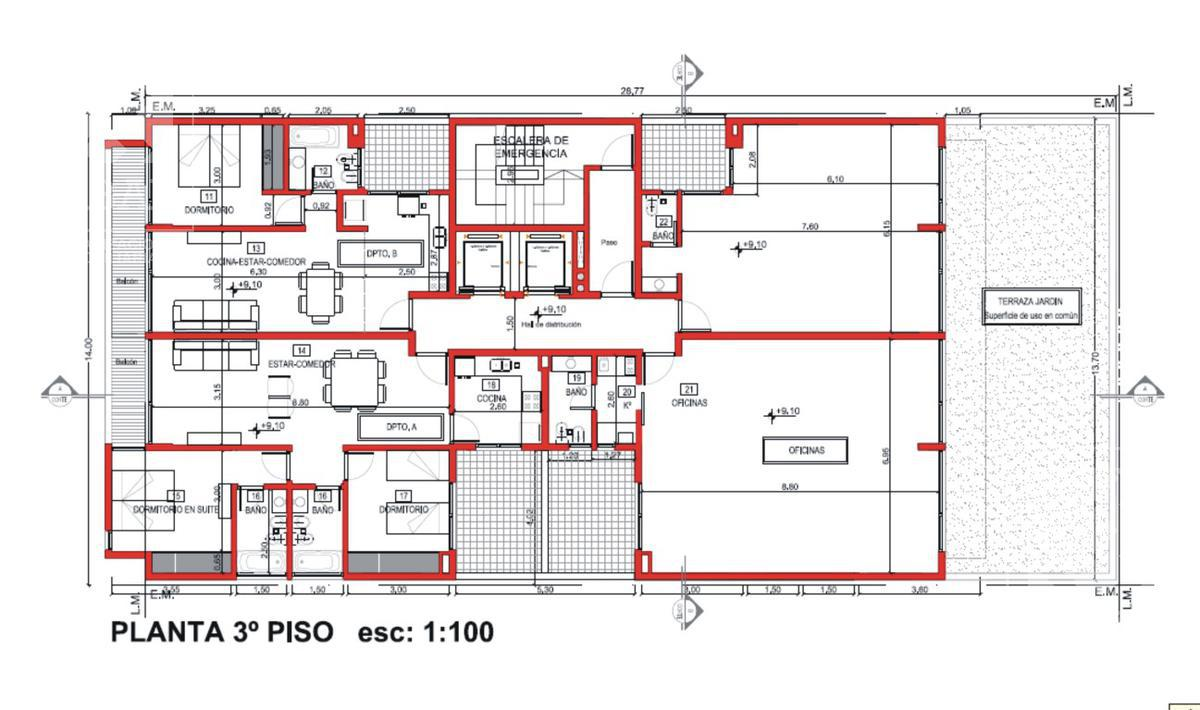Foto Edificio en Santa Genoveva  Islas Malvinas 800 número 14