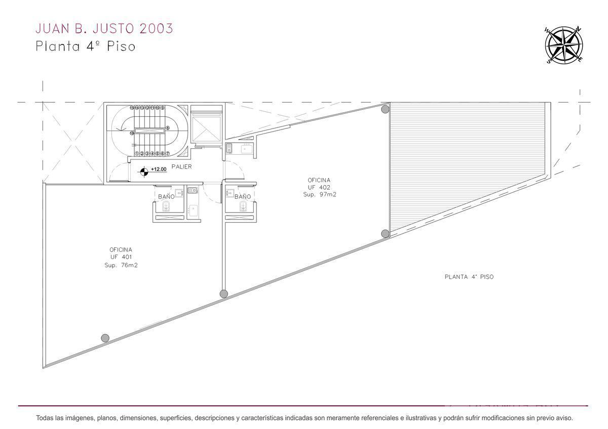 Foto Edificio de oficinas en Villa Crespo Juan B. Justo y Castillo numero 12