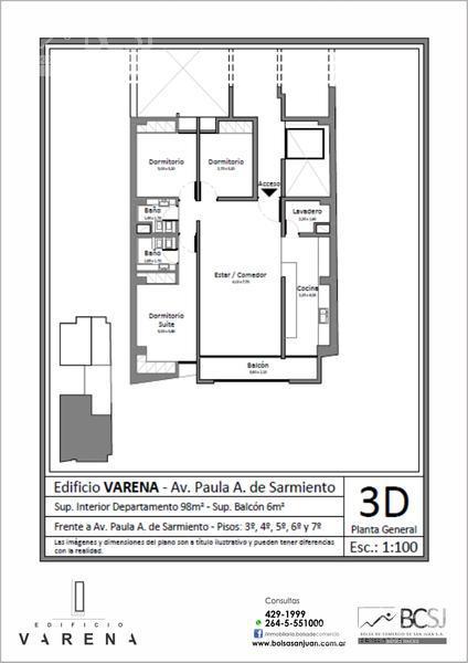 Foto Edificio en Capital Edificio Varena - P. A. de Sarmiento antes de Av. Ignacio de la Roza número 15