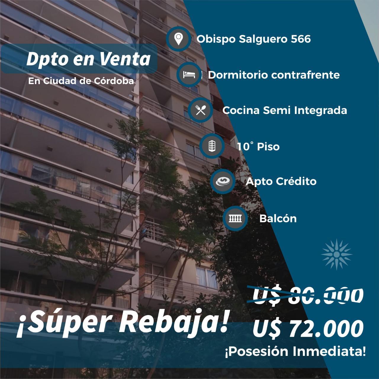 FotoDepartamento en Venta |  en  Nueva Cordoba,  Capital  Obispo Salguero al 500