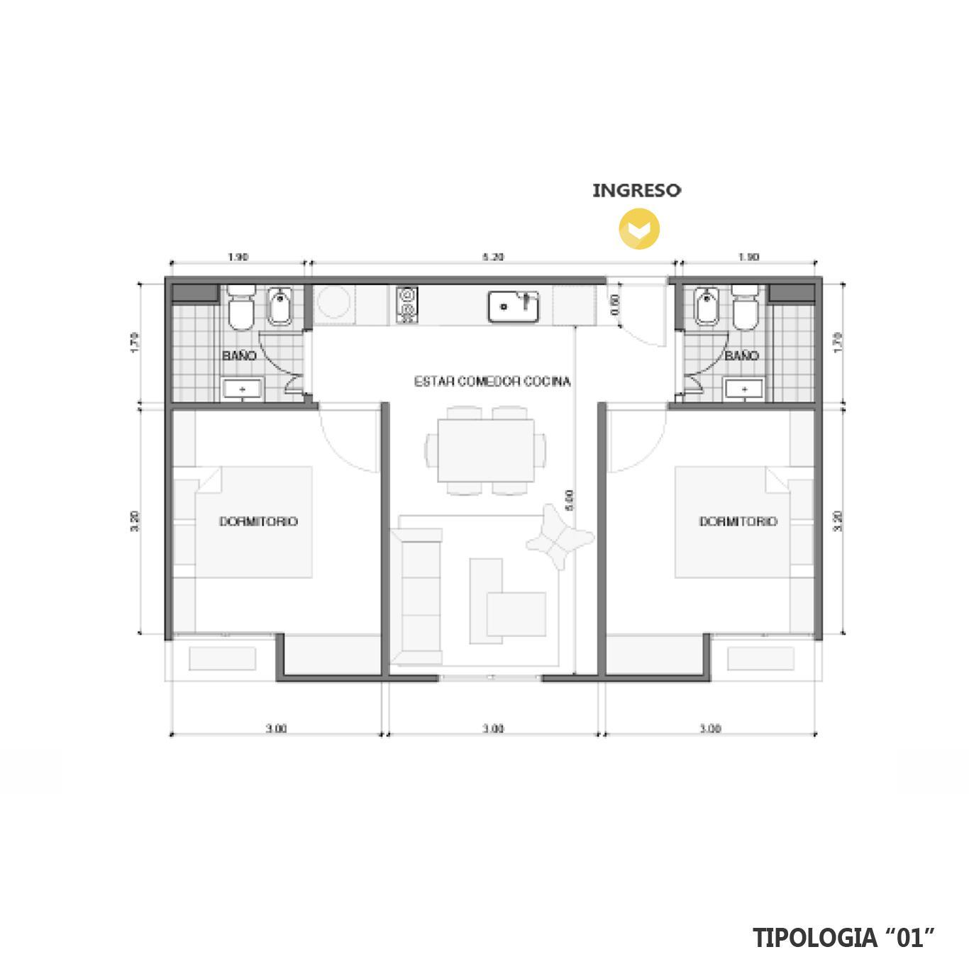 Venta departamento 2 dormitorios Añelo, Añelo. Cod CBU23671 AP2225801. Crestale Propiedades