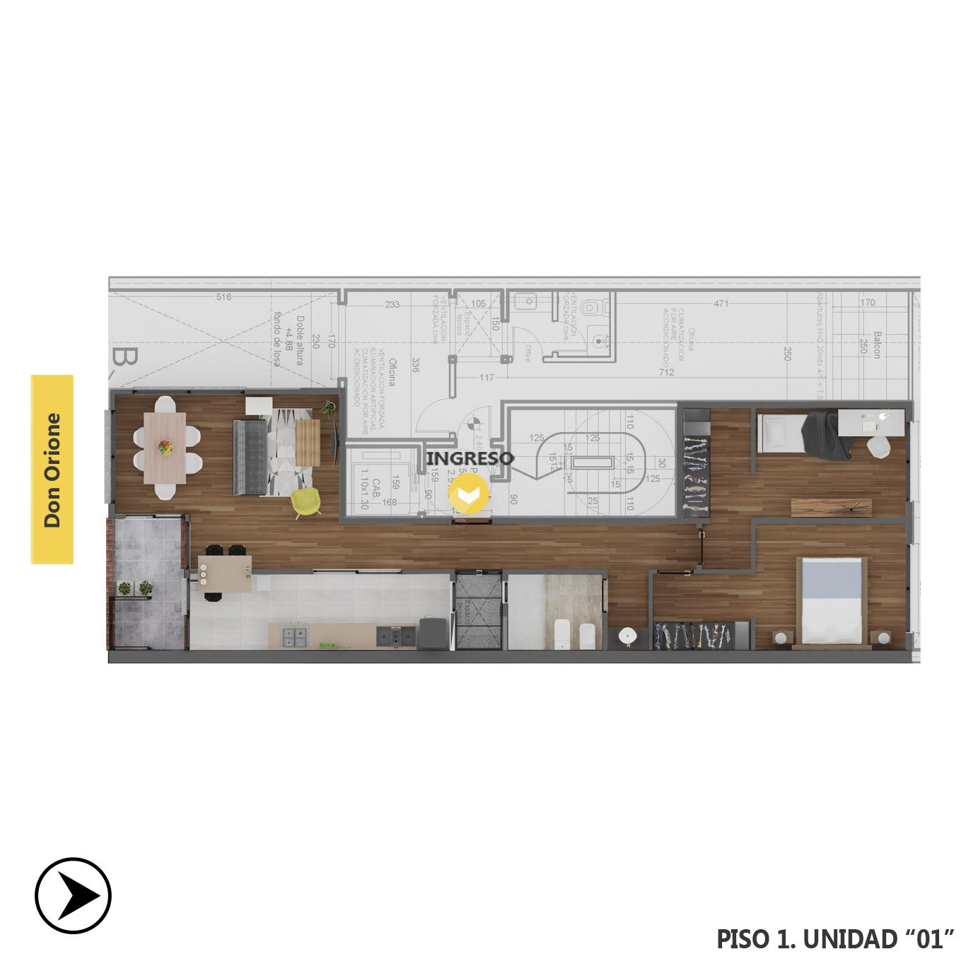 Venta departamento 2 dormitorios Rosario, Puerto Norte. Cod CBU23612 AP2219949. Crestale Propiedades