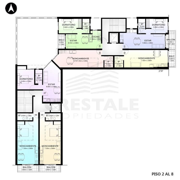 Venta departamento monoambiente Rosario, . Cod CBU7757 AP2357175. Crestale Propiedades