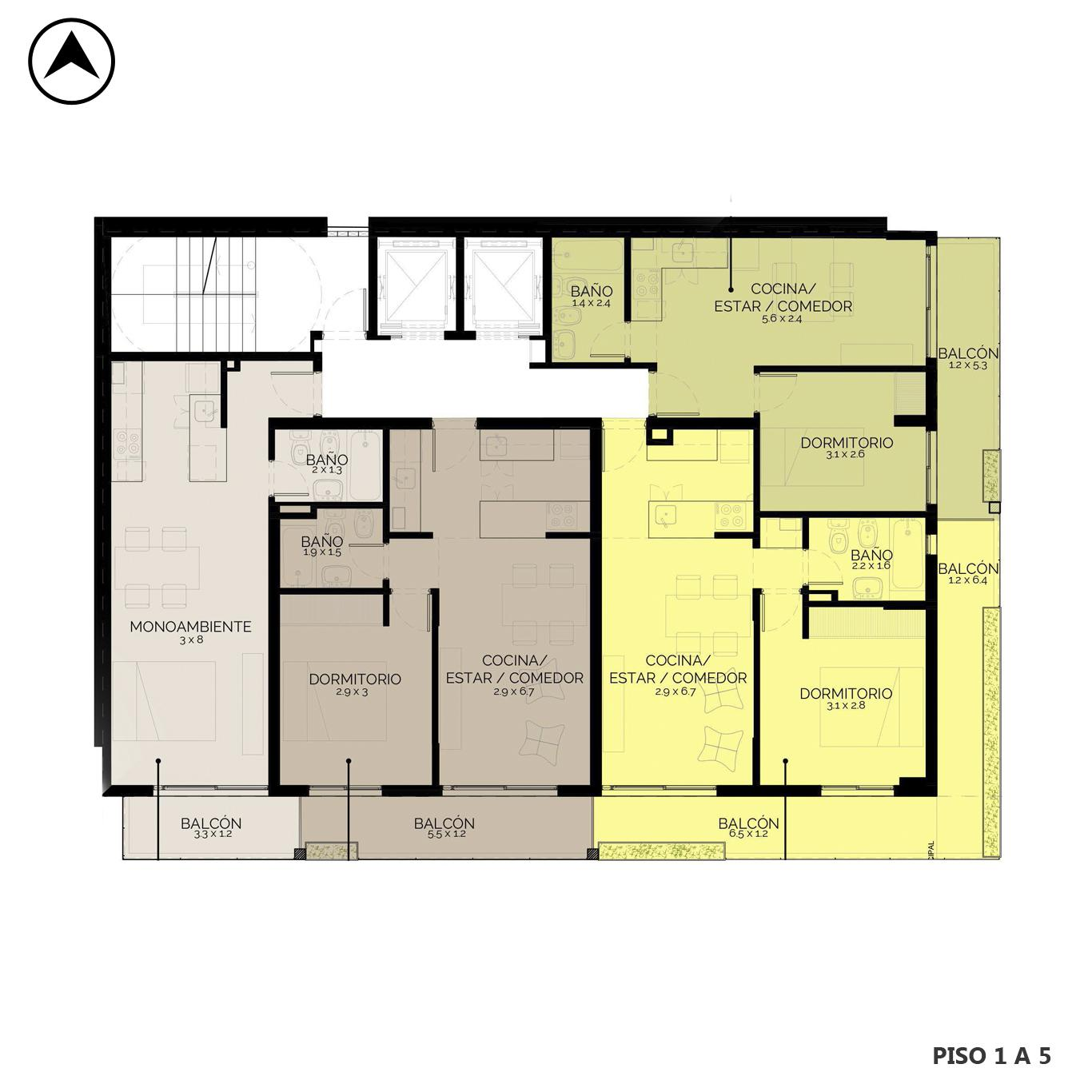 Venta departamento 1 dormitorio Rosario, República De La Sexta. Cod CBU24834 AP2313953. Crestale Propiedades