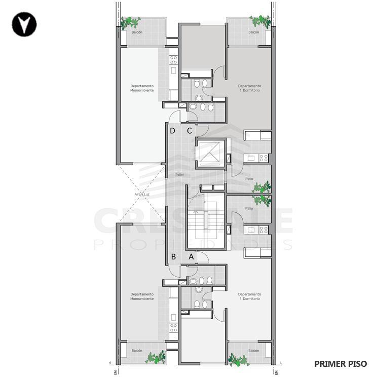 Venta departamento 1 dormitorio Rosario, . Cod CBU7846 AP2286049. Crestale Propiedades