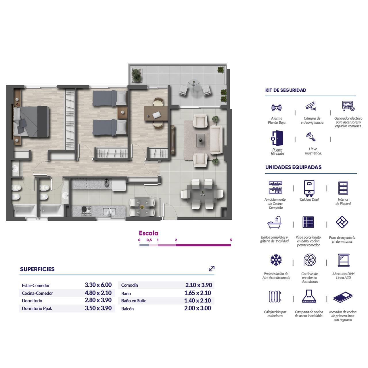 Venta departamento 3 dormitorios Rosario, Centro. Cod CBU11803 AP1132261. Crestale Propiedades