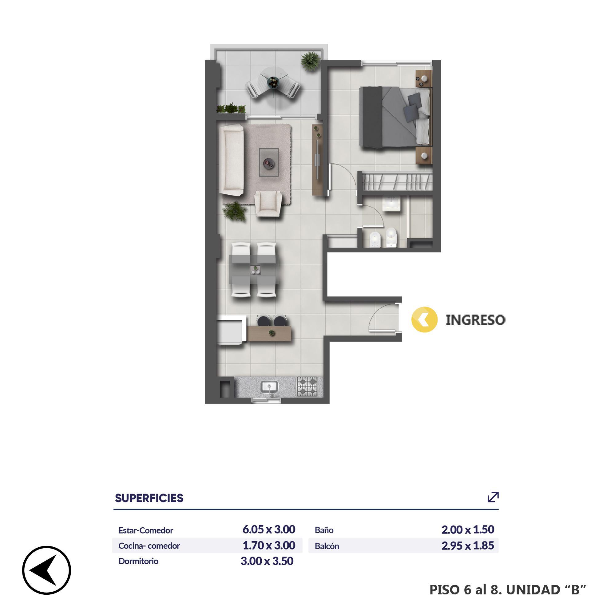 Venta departamento 1 dormitorio Rosario, Centro. Cod CBU19037 AP2017958. Crestale Propiedades