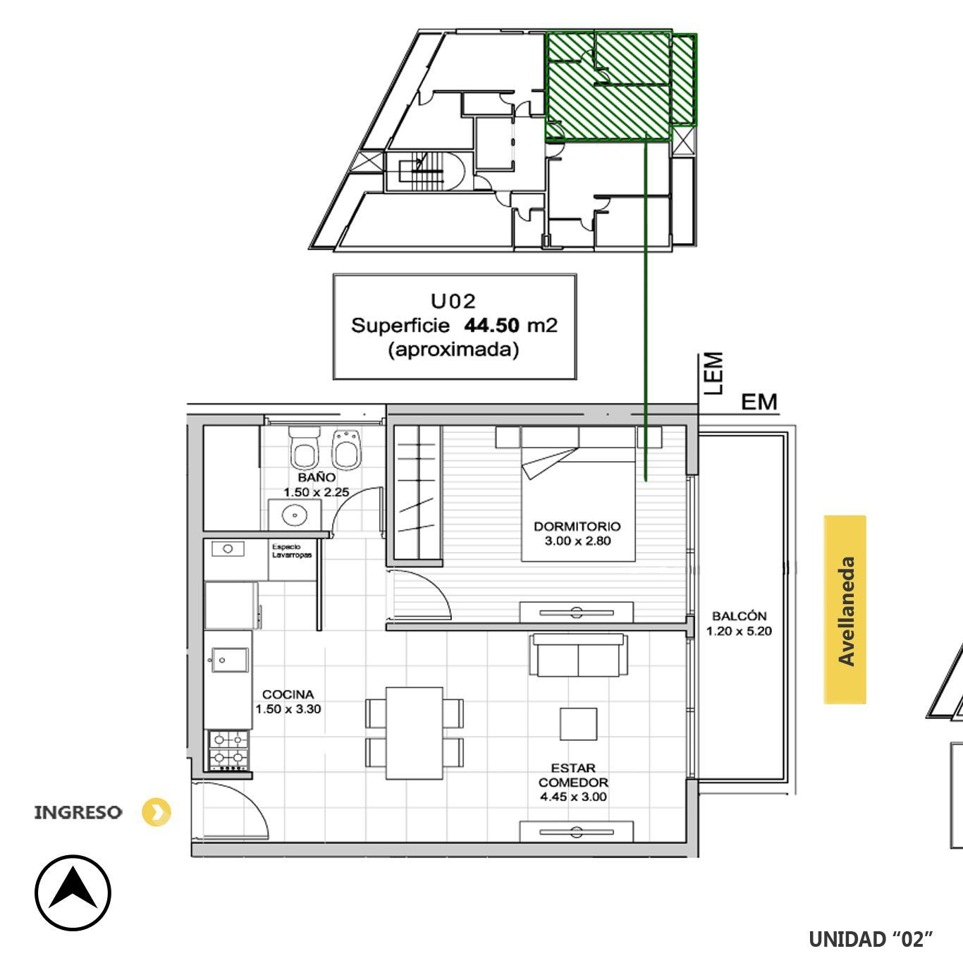 Venta departamento 1 dormitorio Rosario, Remedios De Escalada De San Martin. Cod CBU23216 AP2197251. Crestale Propiedades