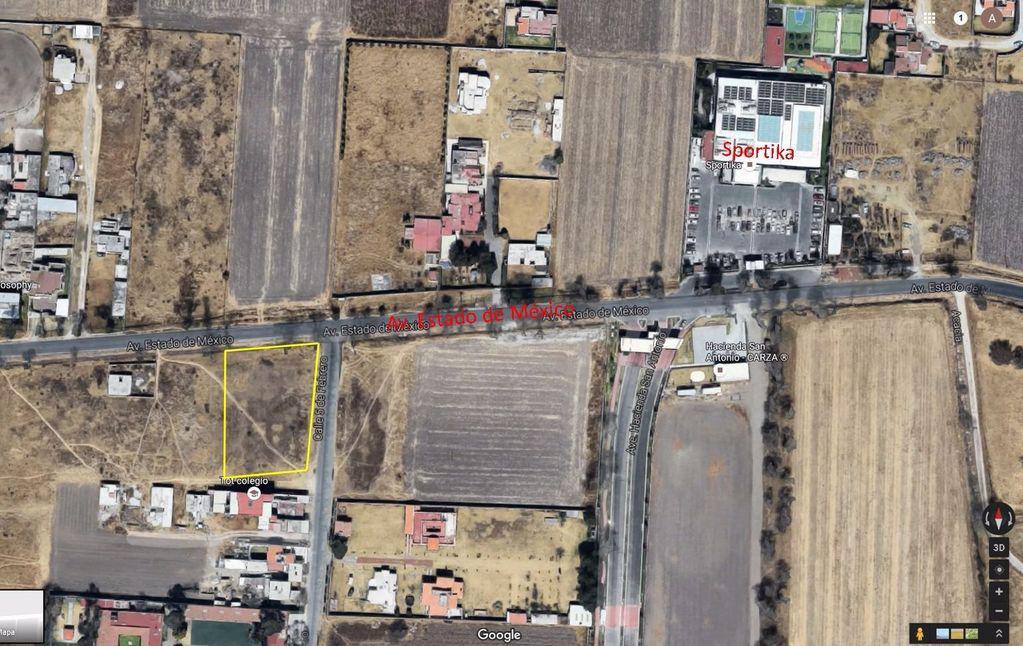 FotoTerreno en Venta    en  Metepec ,  Edo. de México  Terreno 1,000m2 en Av. Estado de México