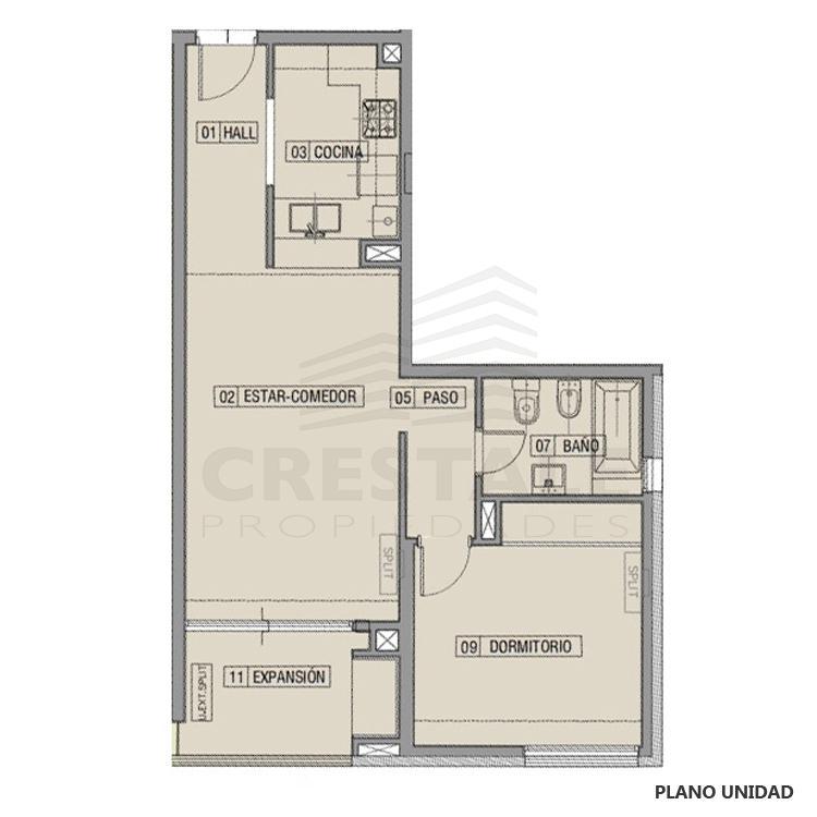 Venta departamento 1 dormitorio Funes, Funes. Cod CBU7784 AP2208546. Crestale Propiedades