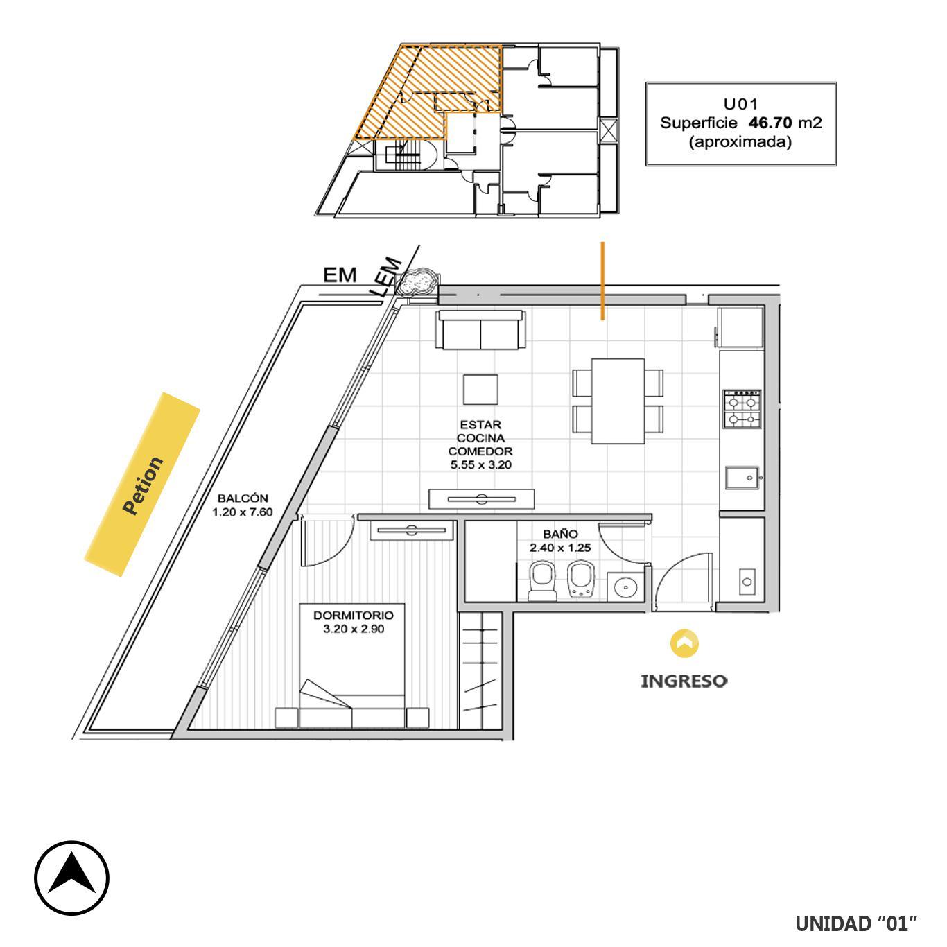 Venta departamento 1 dormitorio Rosario, Remedios De Escalada De San Martin. Cod CBU23216 AP2197207. Crestale Propiedades