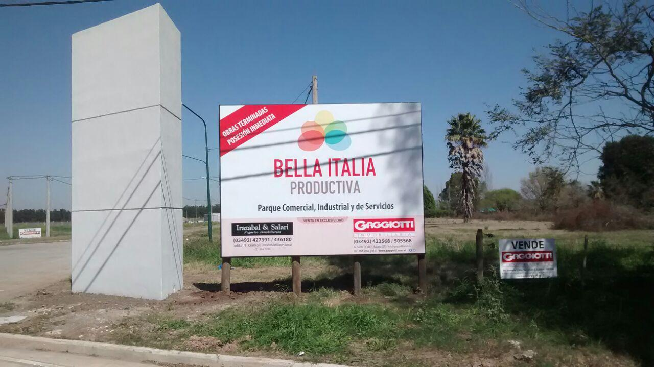 Loteo Bella Italia Productiva Manz. G - Lote 9 - Gaggiotti Inmobiliaria cuenta con más de 50 años desde que se inicio en el negocio de los servicios inmobiliarios.