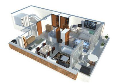 Venta departamento 2 dormitorios Rosario, Centro. Cod CBU14723 AP1413939. Crestale Propiedades