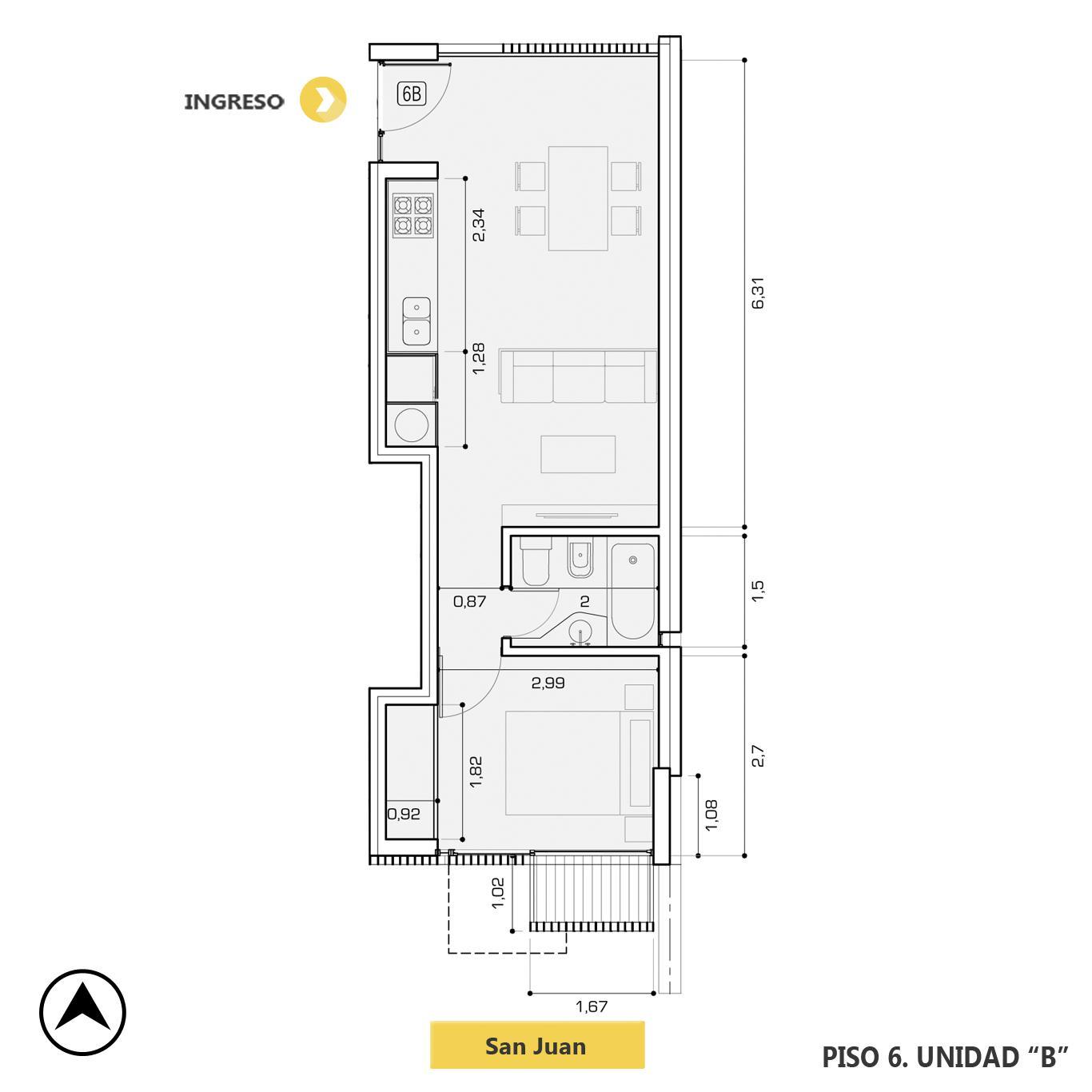 Venta departamento 1 dormitorio Rosario, Centro. Cod CBU23237 AP2198882. Crestale Propiedades