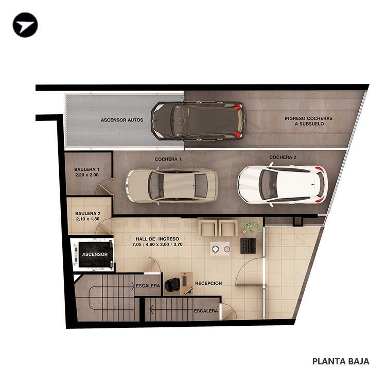Venta departamento 3+ dormitorios Rosario, Puerto Norte. Cod 1438. Crestale Propiedades