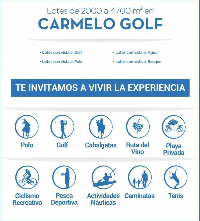 FotoTerreno en Venta    en  El golf,  Carmelo  Carmelo Golf al 100 Carmelo Golf - Lote interno