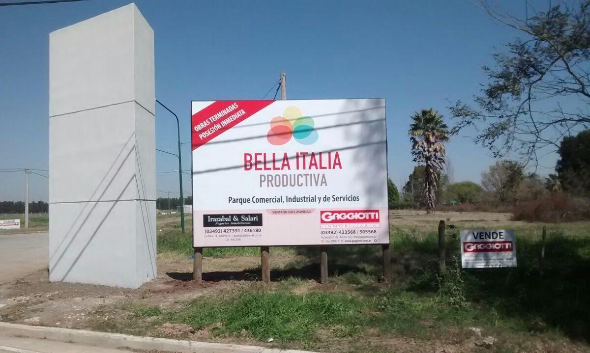 LOTEO BELLA ITALIA PRODUCTIVA - Gaggiotti Inmobiliaria cuenta con más de 50 años desde que se inicio en el negocio de los servicios inmobiliarios.