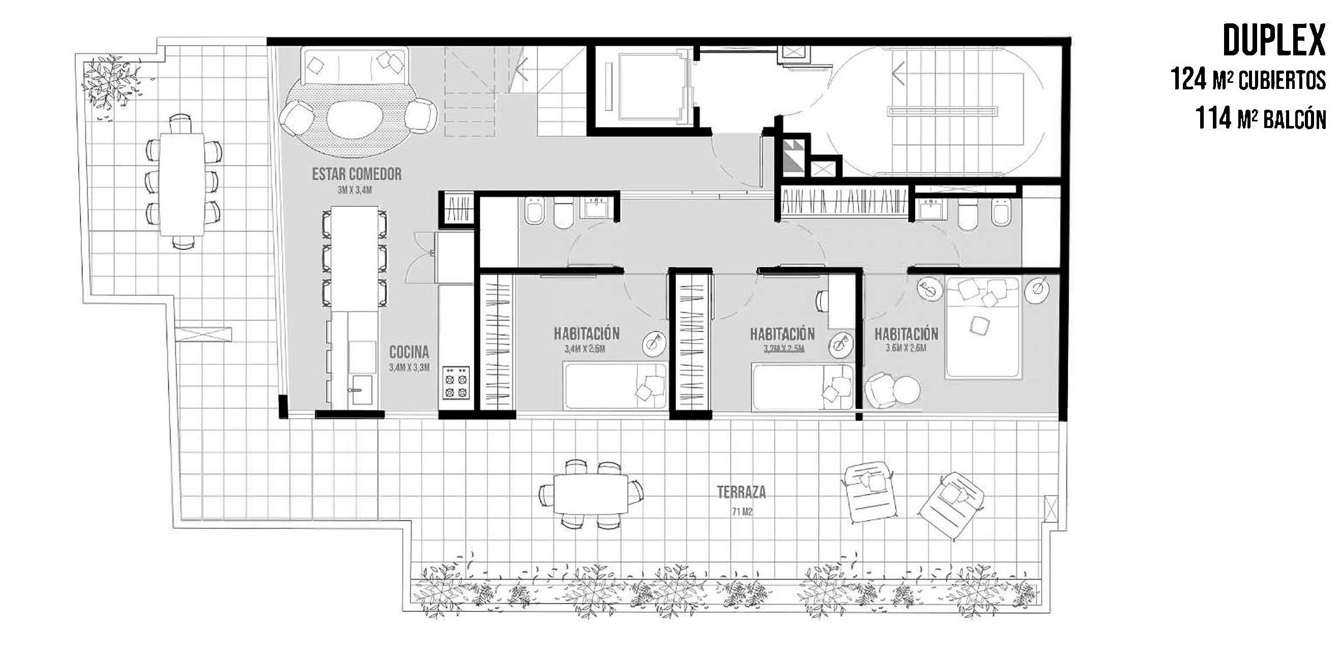 FotoDepartamento en Venta |  en  Chacarita ,  Capital Federal  Loyola al 1600  Duplex 6 y 7