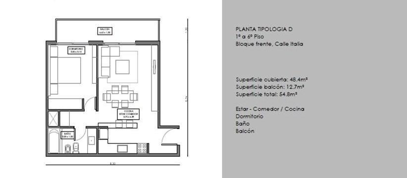 FotoDepartamento en Venta    en  Ciudad De Tigre,  Tigre  Italia al 1400