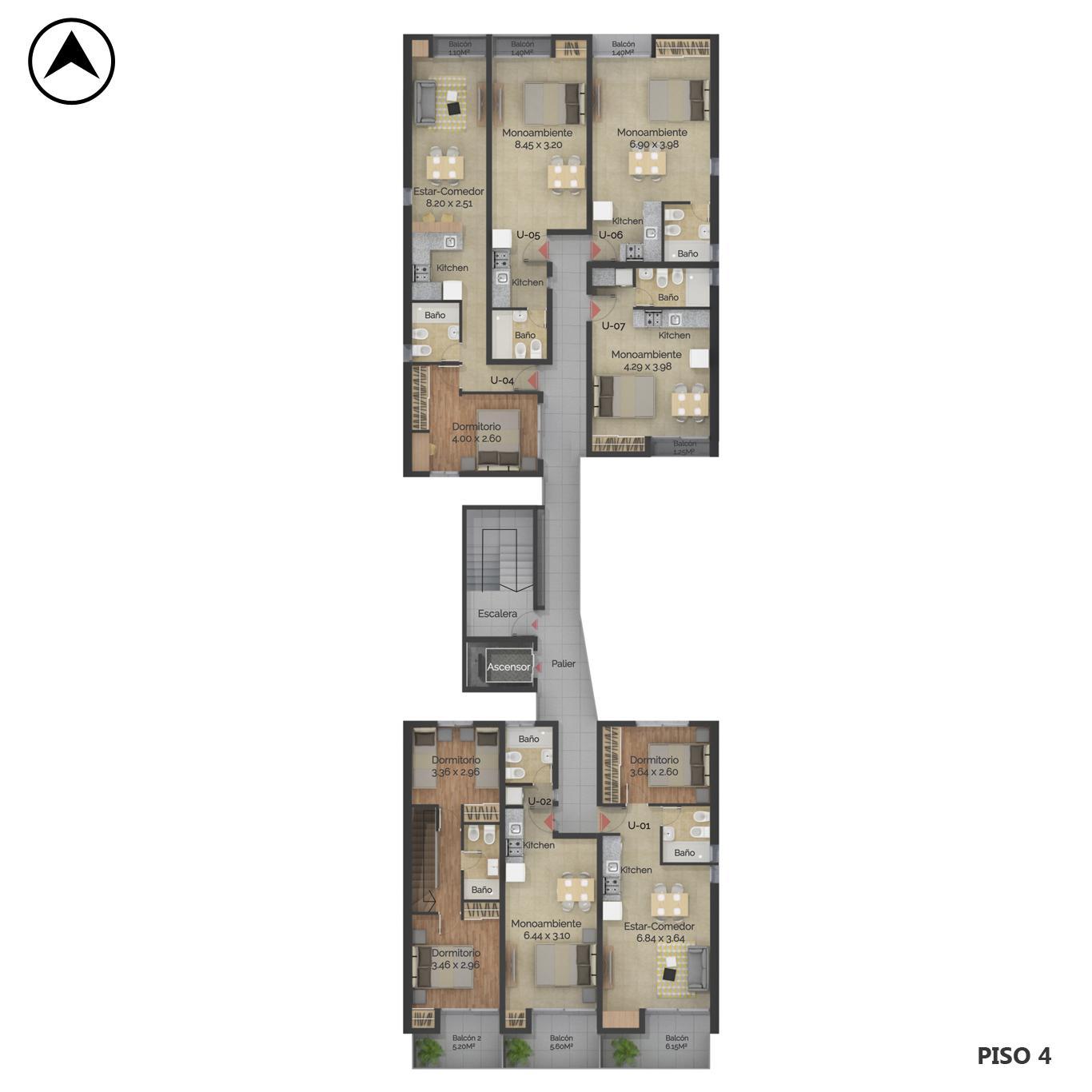 Venta departamento 1 dormitorio Rosario, Centro Oeste. Cod CBU24040 AP2248091. Crestale Propiedades