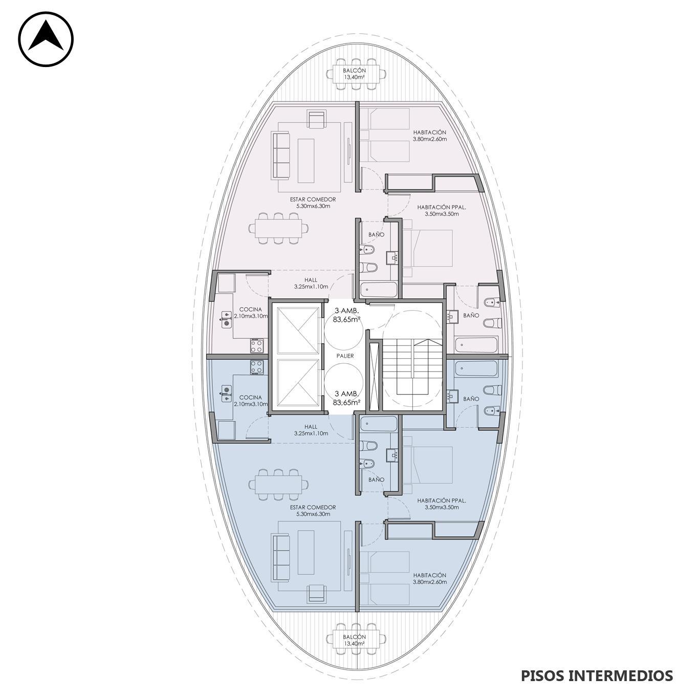 Venta departamento 3 dormitorios Rosario, Centro. Cod CBU23680 AP2227428. Crestale Propiedades