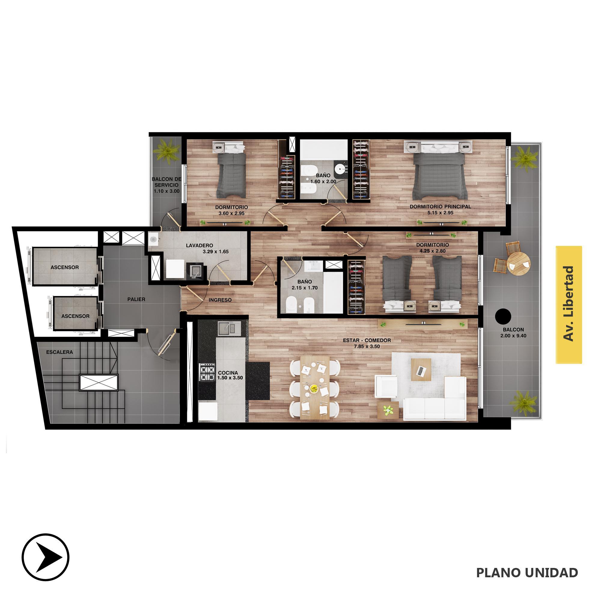 Venta departamento 3+ dormitorios Rosario, Centro. Cod CBU20816 AP2039400. Crestale Propiedades