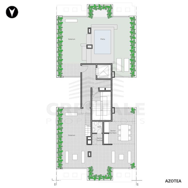 Venta departamento monoambiente Rosario, . Cod CBU7846 AP2286059. Crestale Propiedades