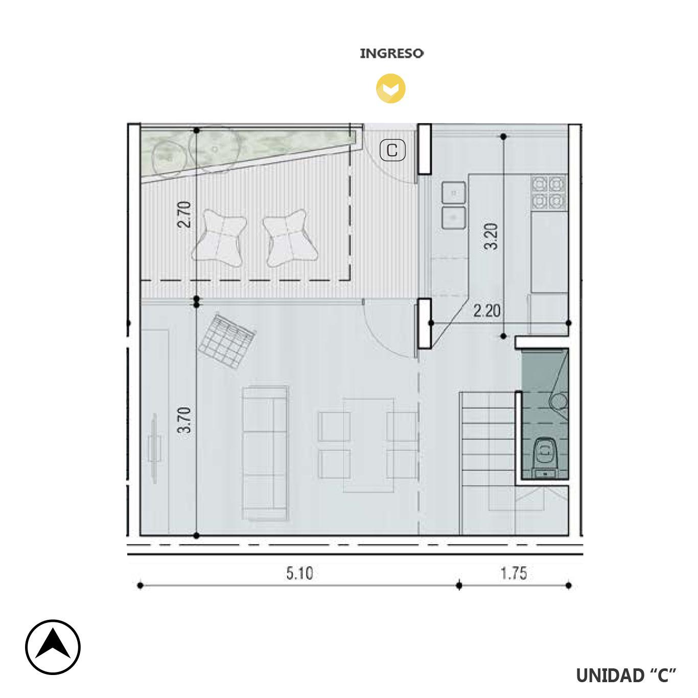 Venta departamento 2 dormitorios Rosario, Pichincha. Cod CBU10166 AP2229151. Crestale Propiedades