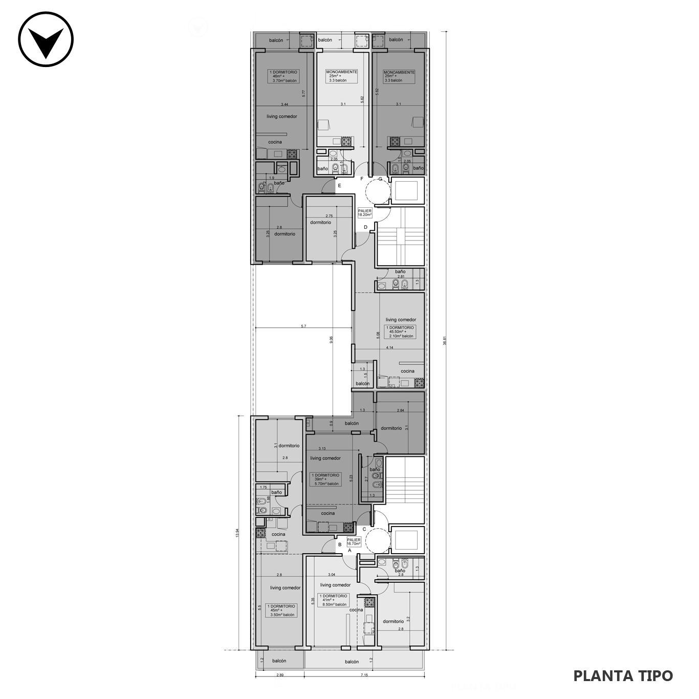 Venta departamento 1 dormitorio Rosario, Centro. Cod CBU24743 AP2302060. Crestale Propiedades