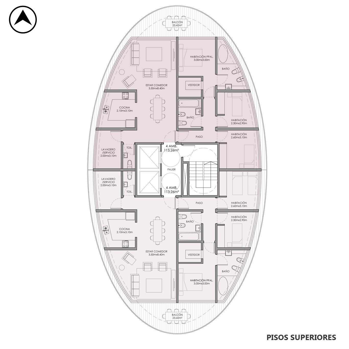 Venta departamento 2 dormitorios Rosario, Centro. Cod CBU23680 AP2227419. Crestale Propiedades