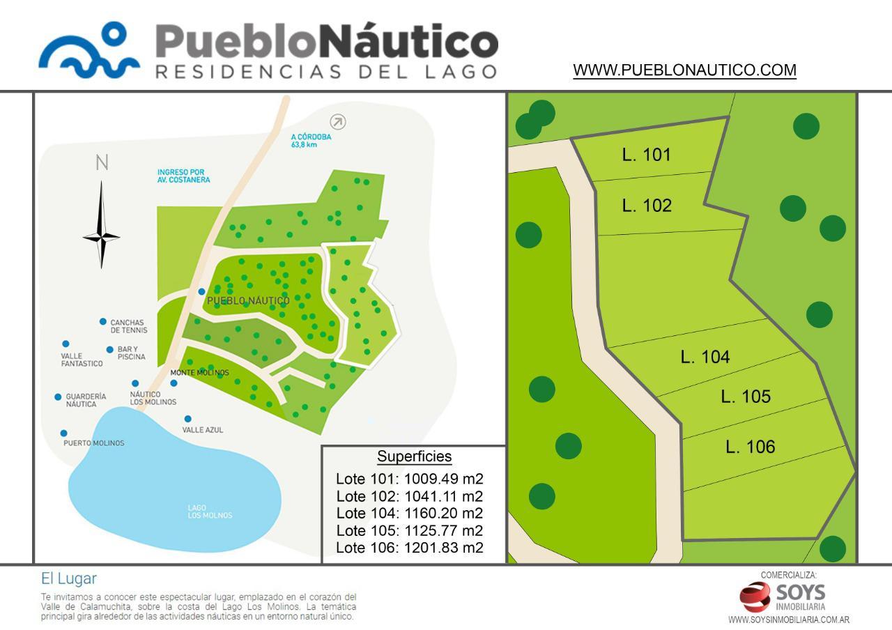 FotoTerreno en Venta |  en  Villa Ciudad De America,  Santa Maria  Venta Terreno 105 Pueblo Nautico, Nautico Los Molinos. Cordoba