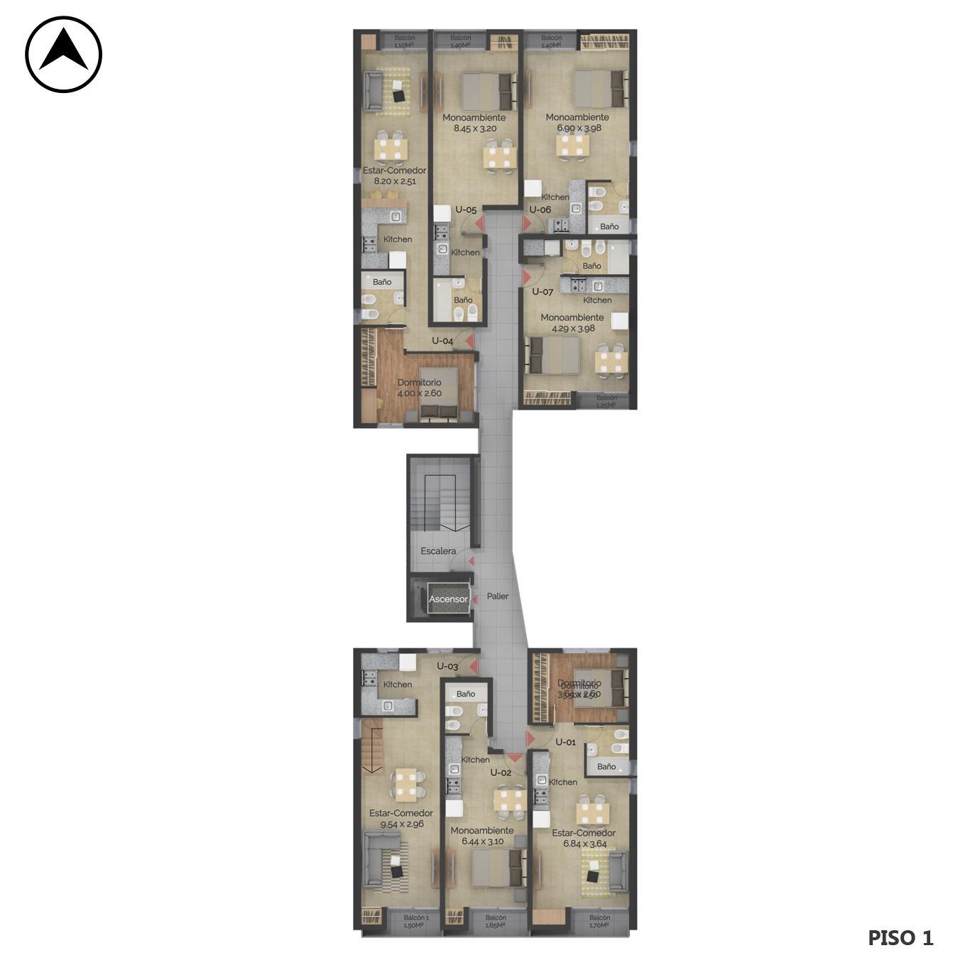 Venta departamento 1 dormitorio Rosario, Centro Oeste. Cod CBU24040 AP2248111. Crestale Propiedades
