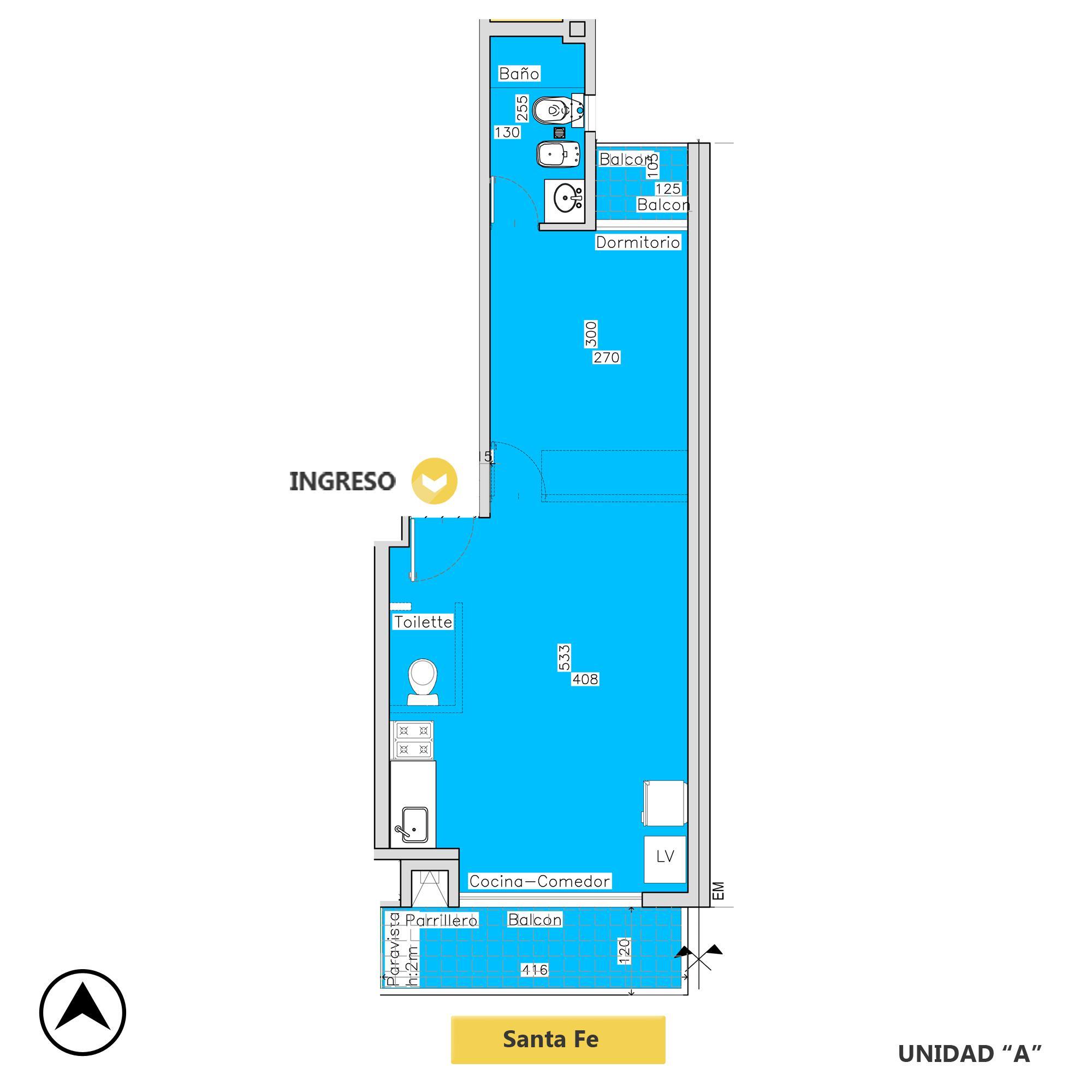 Venta departamento 1 dormitorio Rosario, Centro. Cod CBU20273 AP2006482. Crestale Propiedades