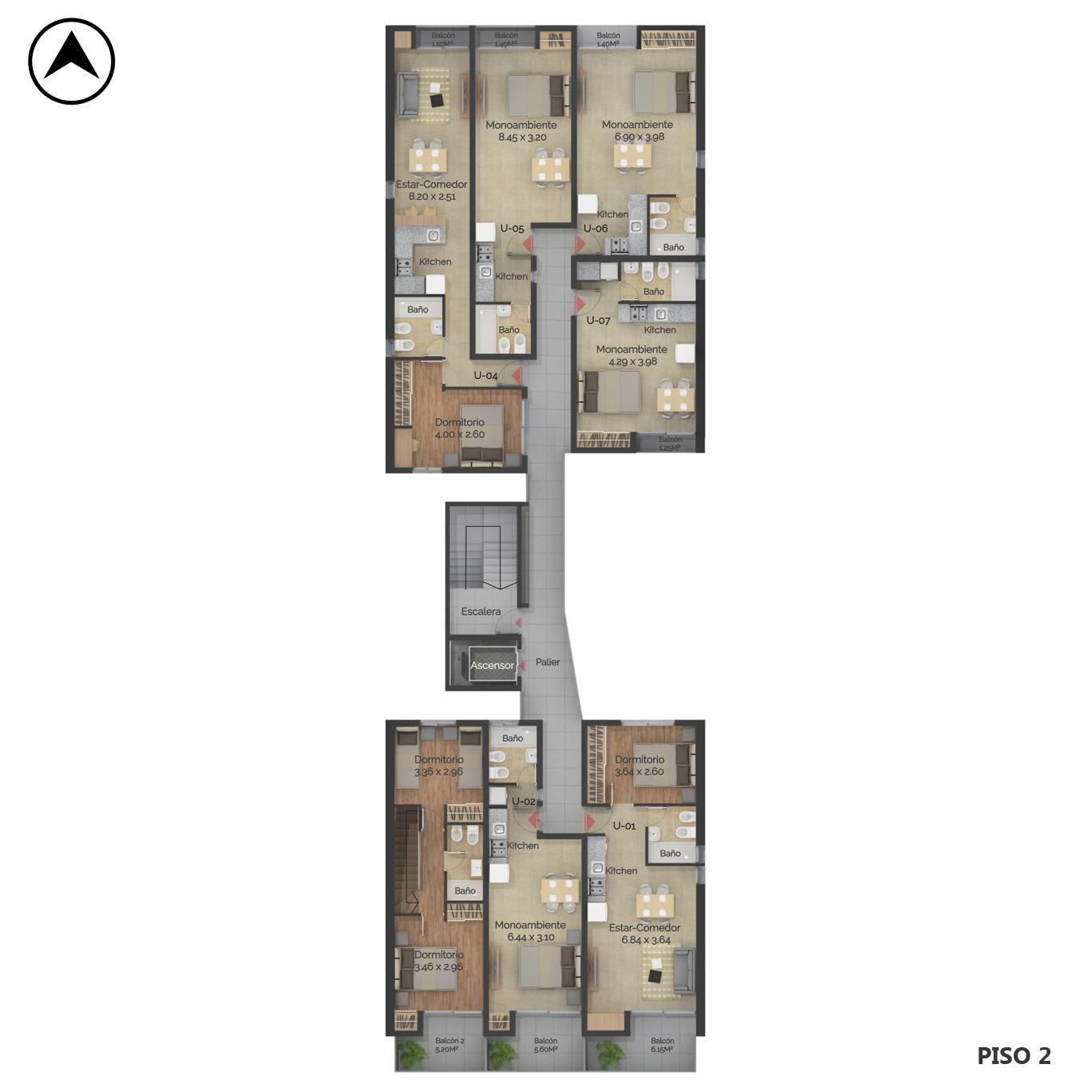 Venta departamento 1 dormitorio Rosario, Centro Oeste. Cod CBU24040 AP2248119. Crestale Propiedades