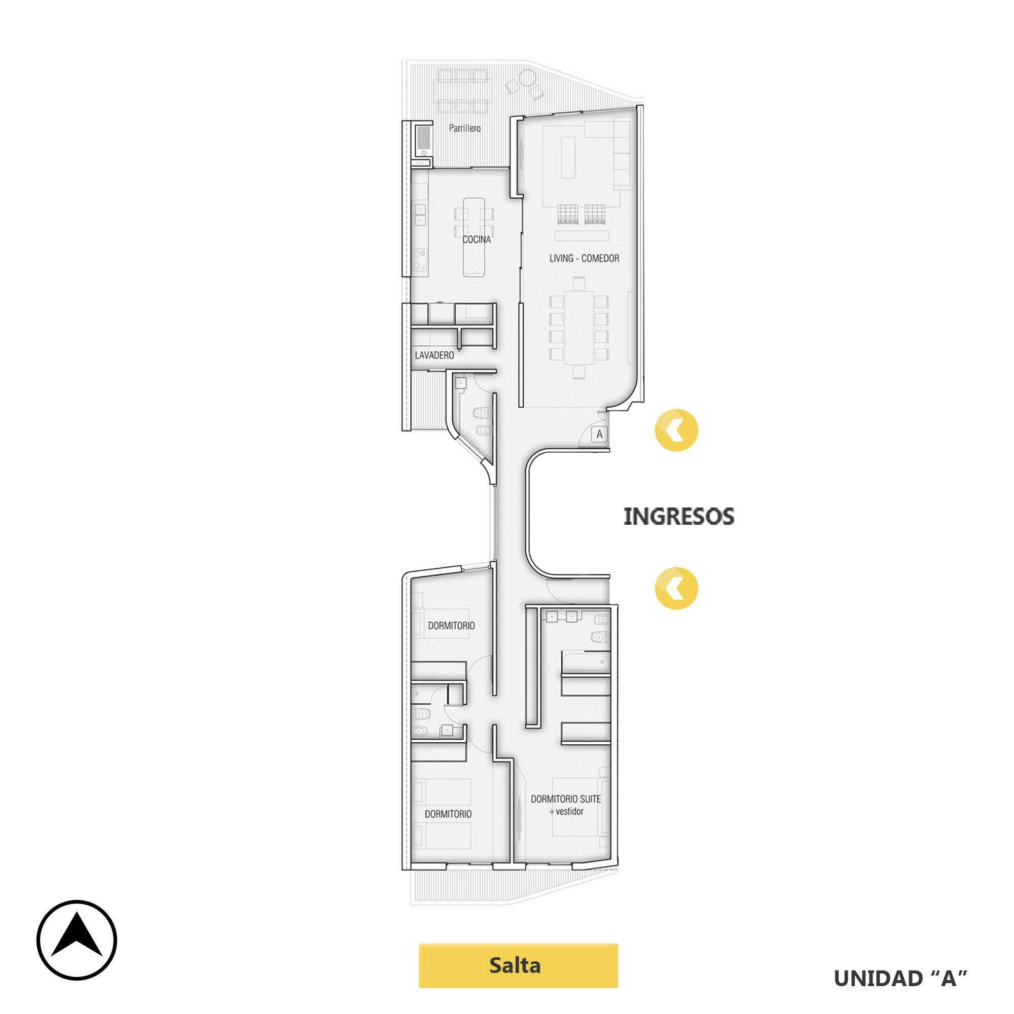 Venta departamento 3 dormitorios Rosario, Centro. Cod CBU20852 AP2045060. Crestale Propiedades