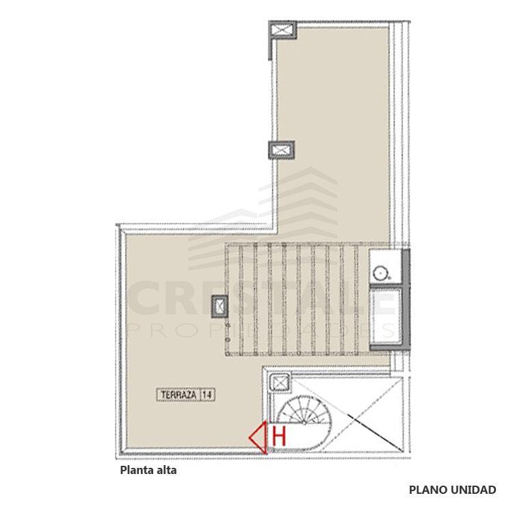Venta departamento 1 dormitorio Funes, Funes. Cod CBU7784 AP2208843. Crestale Propiedades