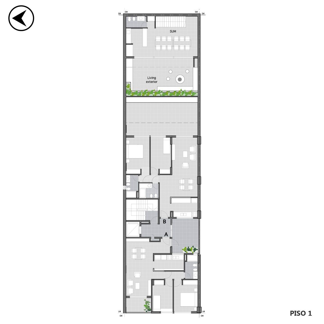 Venta departamento 1 dormitorio Rosario, Martin. Cod CBU24537 AP2285288. Crestale Propiedades