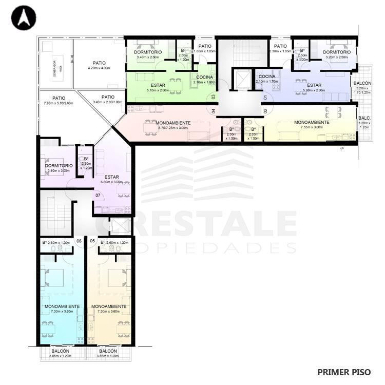 Venta departamento 1 dormitorio Rosario, . Cod CBU7757 AP2357213. Crestale Propiedades