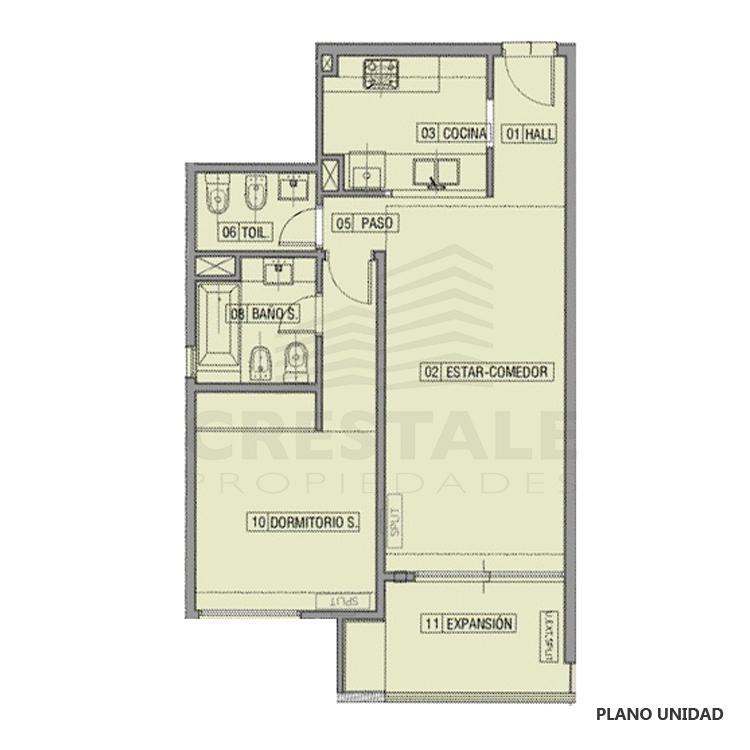 Venta departamento 1 dormitorio Funes, Funes. Cod CBU23049 AP2208274. Crestale Propiedades