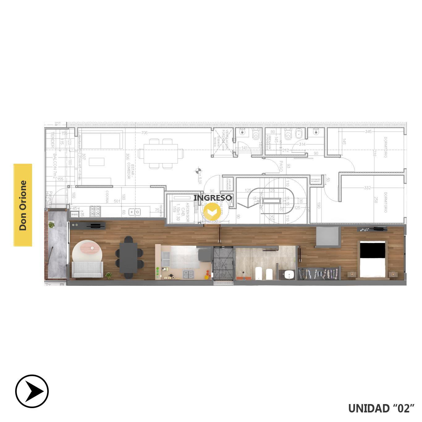 Venta departamento 1 dormitorio Rosario, Puerto Norte. Cod CBU23612 AP2220151. Crestale Propiedades