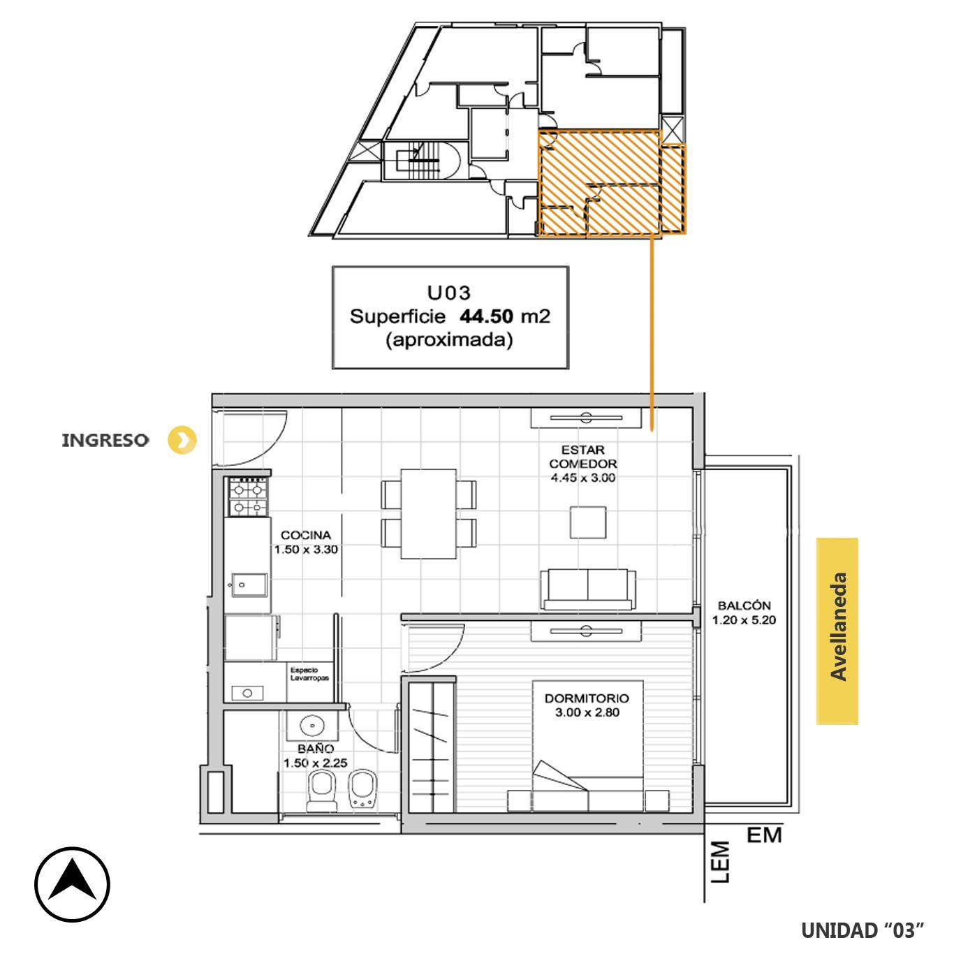 Venta departamento 1 dormitorio Rosario, Remedios De Escalada De San Martin. Cod CBU23216 AP2197278. Crestale Propiedades