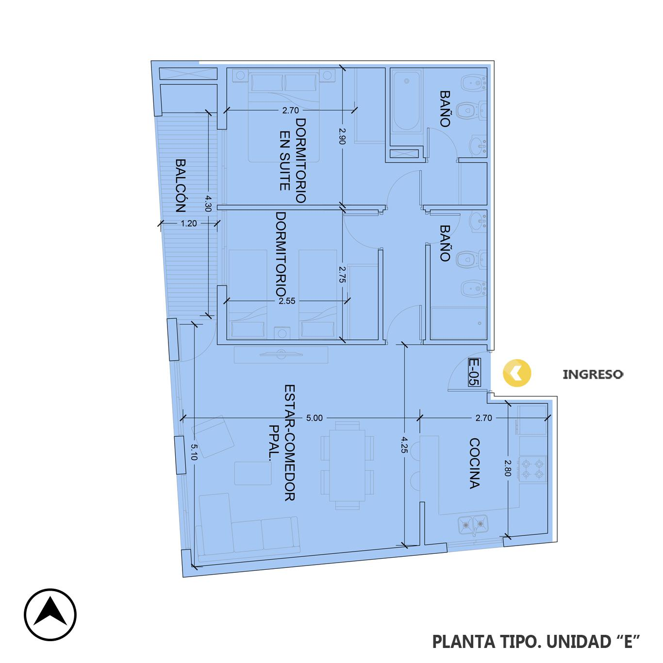 Venta departamento 2 dormitorios Rosario, Fisherton. Cod CBU23543 AP2216291. Crestale Propiedades