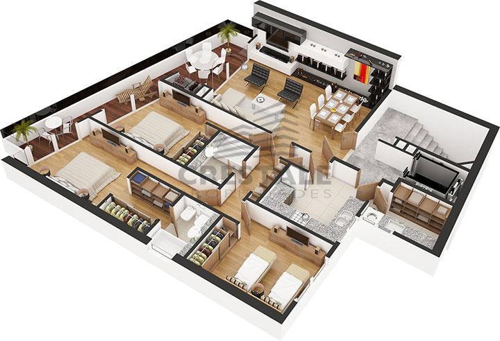 Venta departamento 3 dormitorios Rosario, Puerto Norte. Cod 1437. Crestale Propiedades