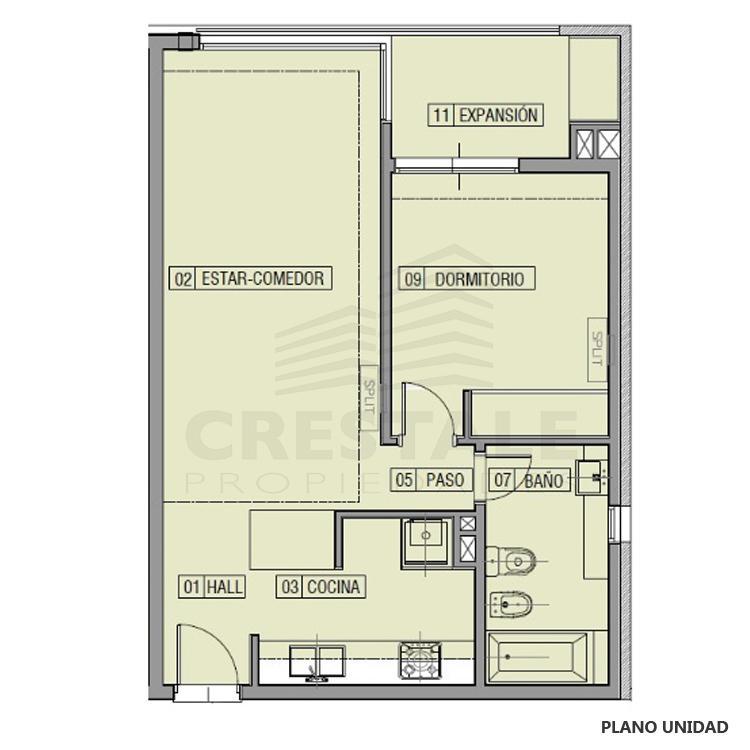 Venta departamento 1 dormitorio Funes, Funes. Cod CBU23049 AP2208412. Crestale Propiedades