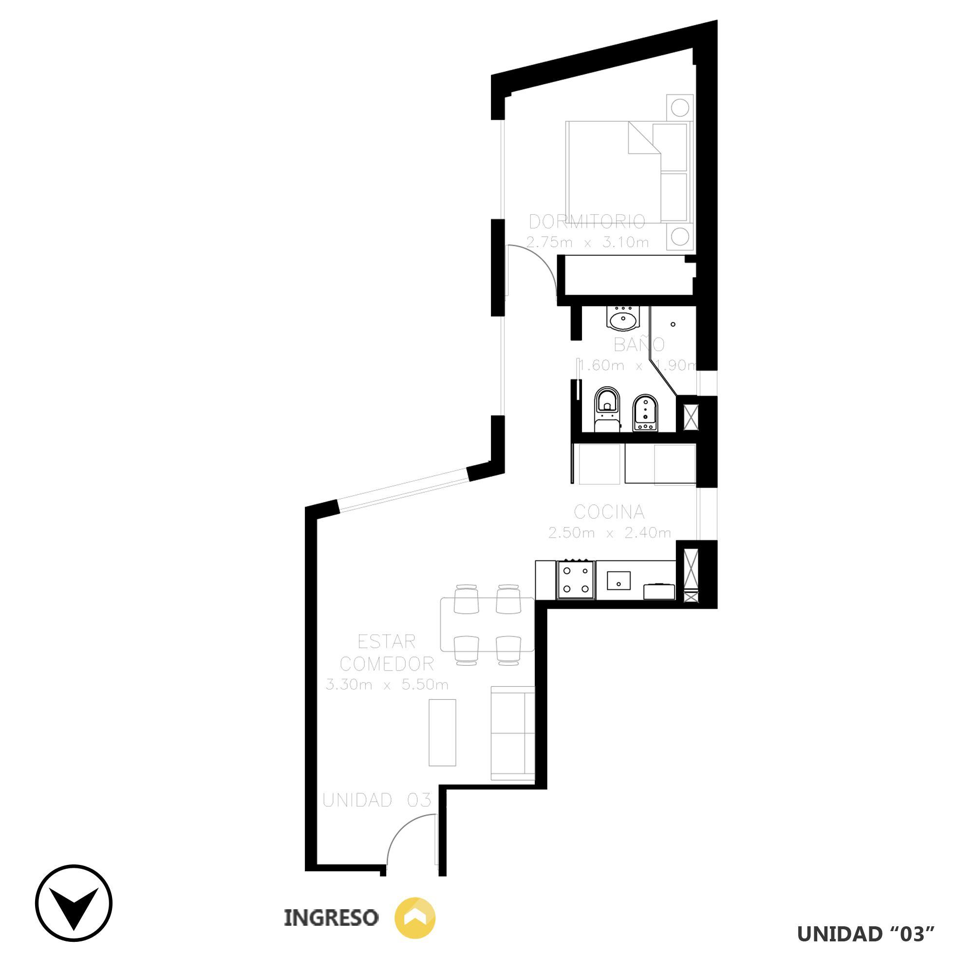 Venta departamento 1 dormitorio Rosario, Barrio La Siberia. Cod CBU20519 AP2018418. Crestale Propiedades
