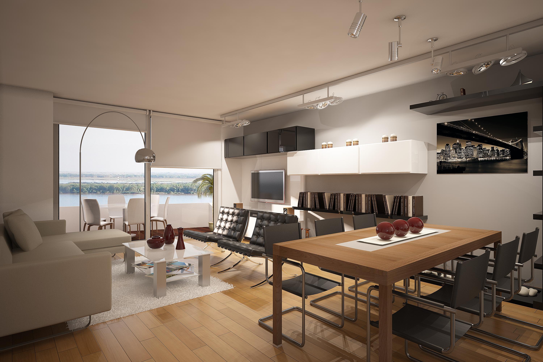 Venta departamento 3 dormitorios rosario zona puerto for Departamentos decorados con plantas