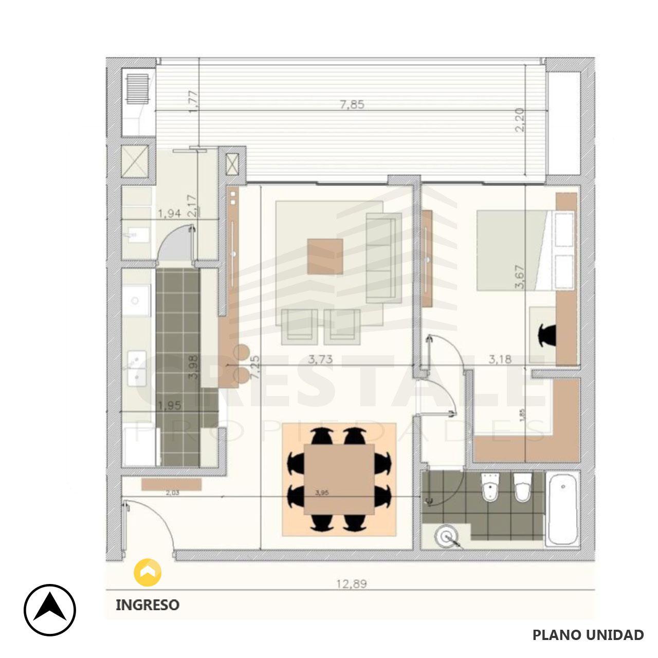 Venta departamento 1 dormitorio Rosario, Fisherton. Cod 4305. Crestale Propiedades